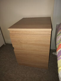 IKEA Kullen Bedside table / chest of 2 drawers