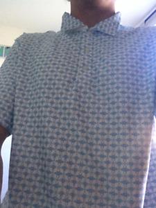 Nike Dry Fit Blue Golf Shirt