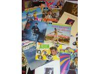 cliff richard lps job lot some rare & memorabilla fan club cards