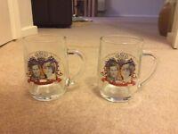 Pair of Charles and Di commemorative glasses