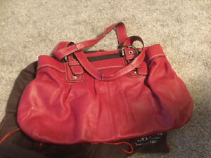 COACH real Leather Red Purse