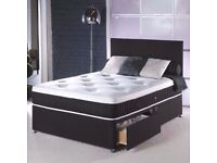 ★★ LONG LASTING BED & MATTRESS ★★ DOUBLE DIVAN BED BASE WITH DIFFERENT TYPES OF MATTRESSES