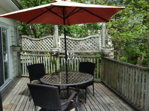 All weather outdoor deck furniture, 5 piece