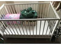 Cot / cot bed with mattress