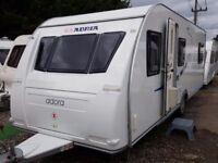 SUPERB 2011 Adria Adora 642UP Fixed Beds/Bunks 4 Berth Caravan