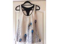 100% Silk Peacock Feather Women's Top/Shirt