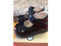 Falcotto black baby shoes size 3