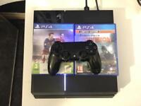 Playstation 4 with Tom Clancy's The Division, Fifa 16 and controller