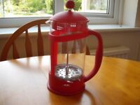 SMALL RED CAFETIERE - NEW.