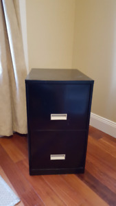 Black metal filing cabinet in great condition for sale