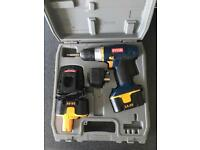 RYOBI CORDLESS DRILL/SCREWDRIVER two batteries, charger and case