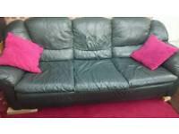 Leather settee
