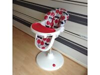 Cossatto 3sixti2 cherry pop highchair