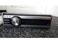 JVC car CD system stereo, face off