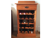 Wooden Wine Rack with One Drawer