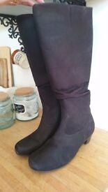 Black 'Hotter' knee high boots