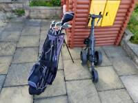 Golf club set and trolley like new