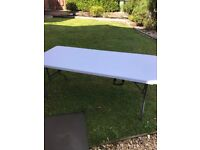 White folding 6ft Party tables