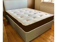 HALF PRICE LUXURY DIVAN BED SETS DELIVERED TODAY MATTRESS INCLUDED