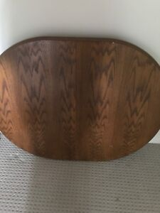 Solid oak table and 4 chairs