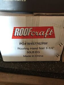Roofing nails 50lbs box 85% full