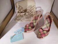 Vivienne Westwood tartan ladies shoes