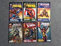 Comic books Avengers, spider-man, X men