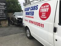 Scrap cars wanted 07794523511 £££ top price for none runners mot fail damage faulty cars vans