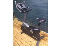 Exercise bike. LifeCycle brand. Many programmes on the computer and in full working order.