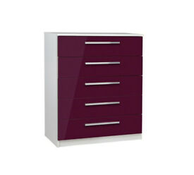 Collection Sparkle 5 Drawer Chest - Plum