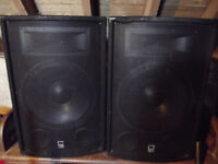 2 x Class D 600w speakers, stands and speakon cables