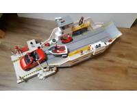 Playmobile car and boat