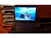 dell Vostro 1510 windows 7 80g hard drive 4g memory webcam wifi dvd drive charger