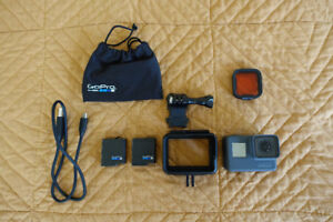 GoPro Hero Black 5 w/ Extra Battery & Red Lens Cover