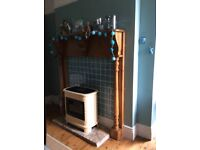 Large wooden fireplace surround