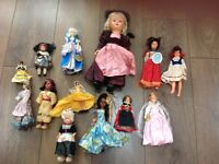 Collection of collectors dolls (1960s) wearing National Costumes