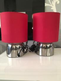 2 twin touch lamps