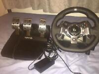 Xbox 1/pc Logitech 920 steering wheel and pedals
