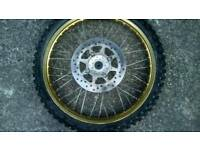 70/100-19 gold rim motocross wheel