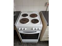 Beko 4 ring cooker with combined grill/oven.