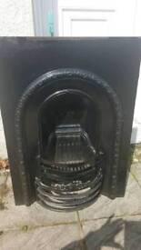 Cast iron fireplace