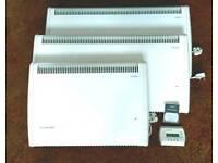 Consort Claudgen heaters x3 2x2kw 1x1kw plus wireless controller