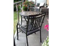 M&S tiled top patio bistro set