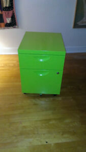 Vibrant Green Filing Cabinet