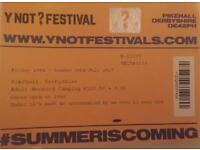 Ynot Ticket- Weekend Camping