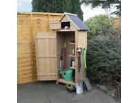Wooden Sentry Style Garden Shed (FREE LOCAL DELIVERY)