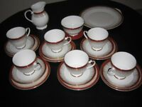 Royal Grafton Red Majestic Bone China Tea Set 21 Pieces