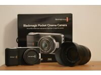 Blackmagic Pocket Cinema Camera + Lense 14 140 + Card 64GB ALL NEW
