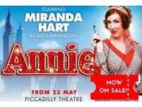 2 X Tickets for ANNIE The Musical 5th of August £55 each