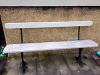 Vintage Cast Iron Wood Bench - In Fantastic condition - £50